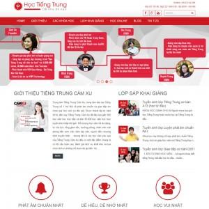 Thiết Kế Website Giáo Dục Trung Tâm Tiếng Trung SBW09