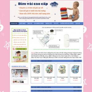 Thiết Kế Website Bán Hàng Bỉm Vải Cao Cấp SBW07