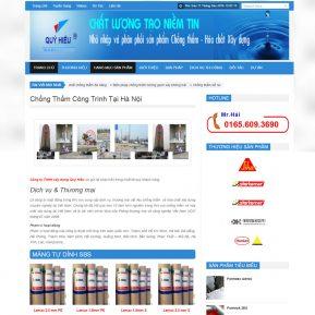Thiết Kế Website Dịch Vụ Chống Thấm Công Trình SBW12