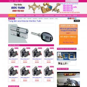 Thiết Kế Website Dịch Vụ Sửa Khóa SBW11