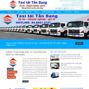 Thiết Kế Website Giới Thiệu Dịch Vụ Taxi Tải SBW13