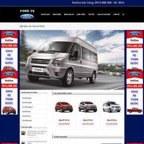 Website Giới Thiệu Và Bán ôtô Ford Chuẩn Seo SBW19