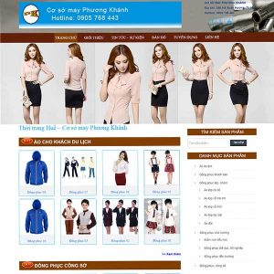 Website Giới Thiệu In May áo đồng Phục SBW37