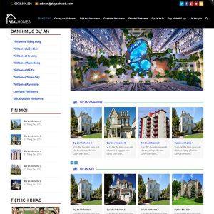 Thiết Kế Website Bất động Sản Nhiều Dự án SBW22