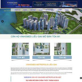Website Giới Thiệu Bán Dự án Bất động Sản Vinhomes SBW27