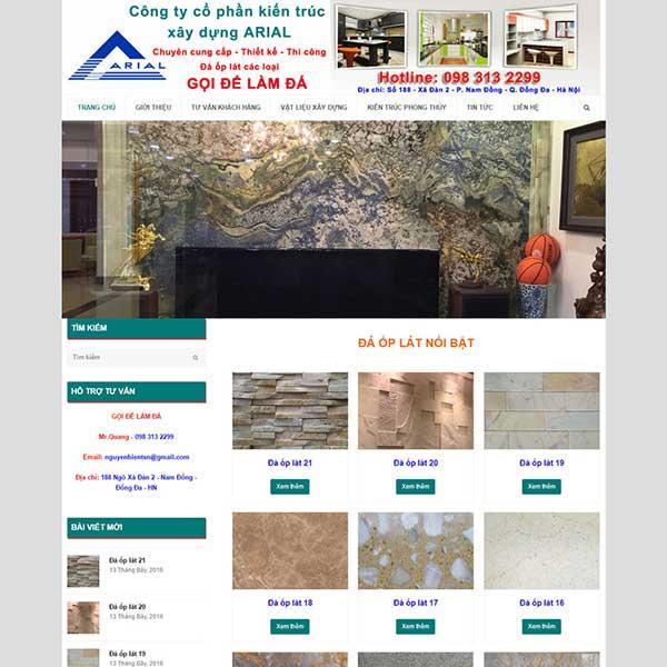 mẫu website đá ốp lát