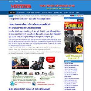 Webiste Dịch Vụ Sửa Chữa Và Bán Ghế Massage Cũ SBW47