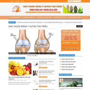 Website Giới Thiệu Nhà Thuốc đông Y SBW33