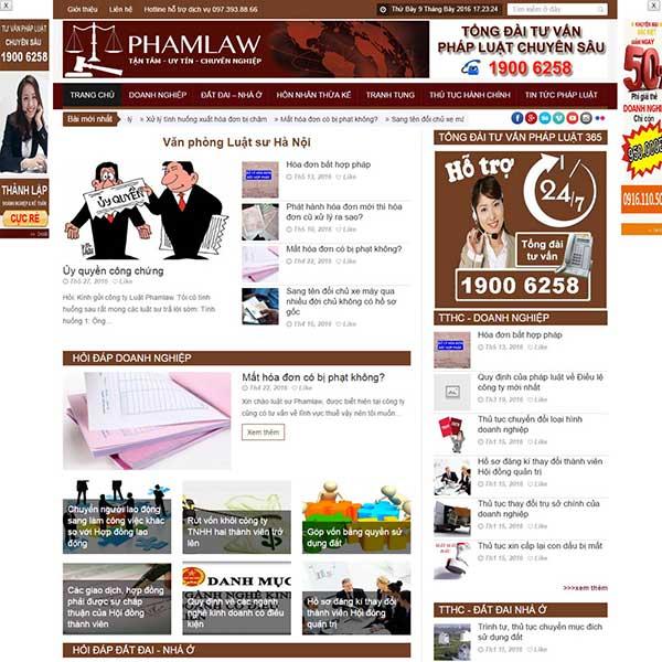 mẫu website dịch vụ tư vấn luật