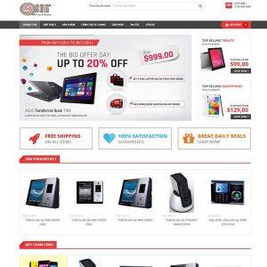 Website Bán Hàng đồ Công Nghệ Máy Chấm Công Camera SBW49