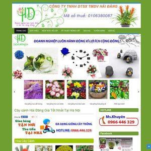 Thiết Kế Website Cây Cảnh Hoa Mẫu SBW16