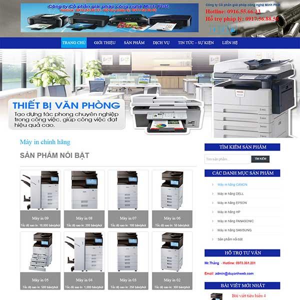 mẫu website bán máy in máy photo
