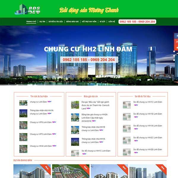 mẫu website bán bất động sản