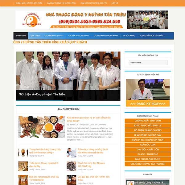 mẫu website tin tức nam khoa