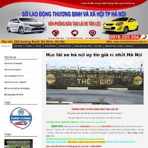 Website Trung Tâm Dạy Lái Xe Hà Nội SBW74