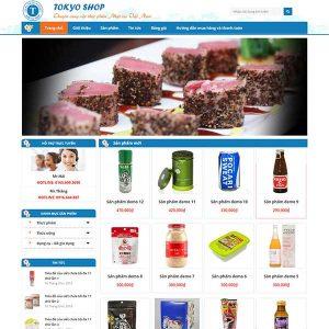 Website Bán Thực Phẩm Nhật Bản SBW86