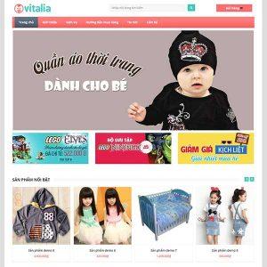 Website Quần áo Thời Trang Dành Cho Bé SBW81