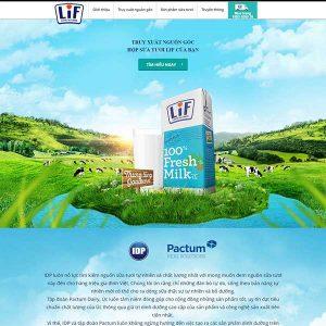 Website Giới Thiệu Công Ty Sữa SBW85