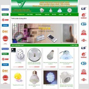 Website Bán Thiết Bị điện Quảng Bình SBW104