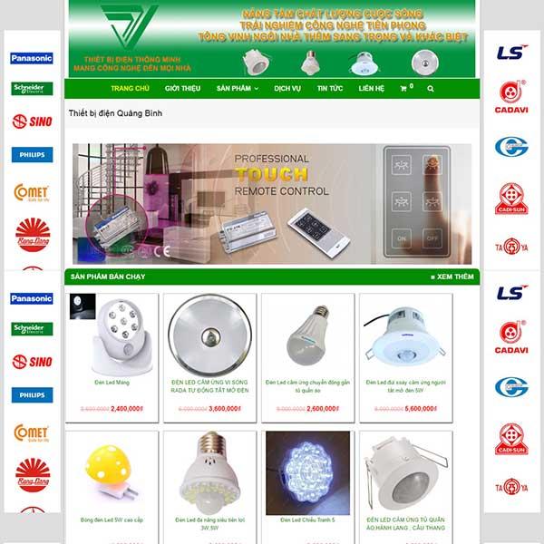 mẫu website bán thiết bị điện