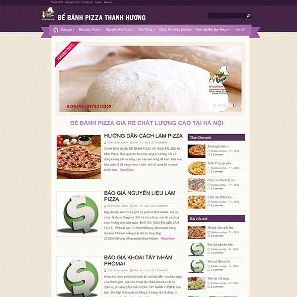 mẫu website làm bán pizza