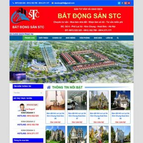 Website Bất động Sản Nhà đất STC SBW106