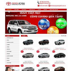 Website Bán ô Tô Toyota Mỹ đình 365 SBW120