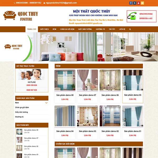 mẫu website bán rèm