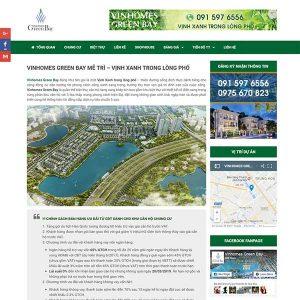 Website Giới Thiệu Bán Dự án Chung Cư Biệt Thự SBW111