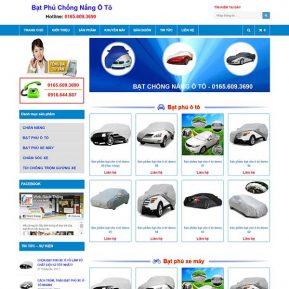 Website Bán Bạt Phủ Chống Nắng ô Tô 365 SBW212