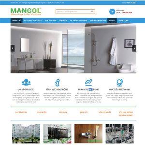 Mẫu Website Công Ty Phân Phối Thiết Bị Vệ Sinh SBW125