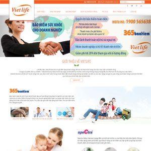 Website Dịch Vụ Bán Bảo Hiểm Vietlife SBW124