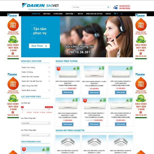 mẫu website bán điều hòa