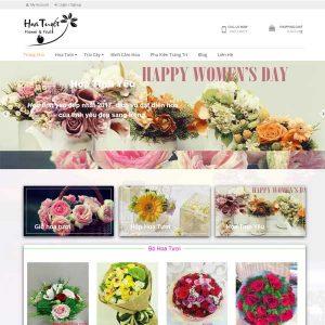 Mẫu Website Bán Hoa Và Binh Hoa Tuyết SBW127