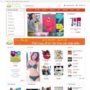 Mẫu Website Bán Quần áo Bán Buôn Bán Lẻ SBW130