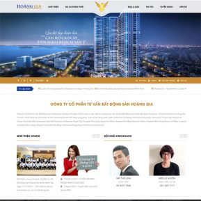 Mẫu Website Bất động Sản Thương Hiệu SBW133