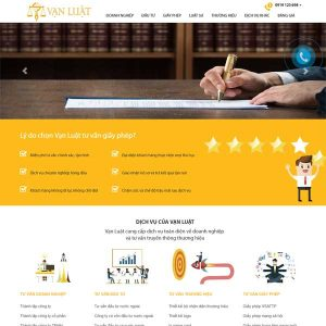 Mẫu Website Công Ty Luật SBW131