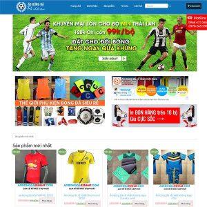 Mẫu Website Phụ Kiện Và áo Bóng đá SBW151