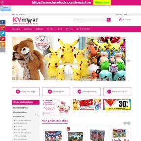 Mẫu Website Bán đồ Chơi Trẻ Em SBW144