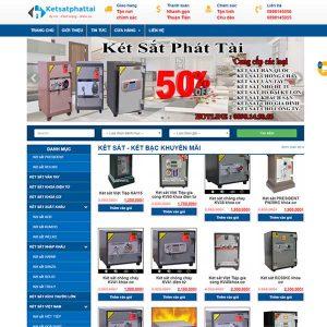 Mẫu Website Bán Két Sắt – Két Bạc Cao Cấp SBW155