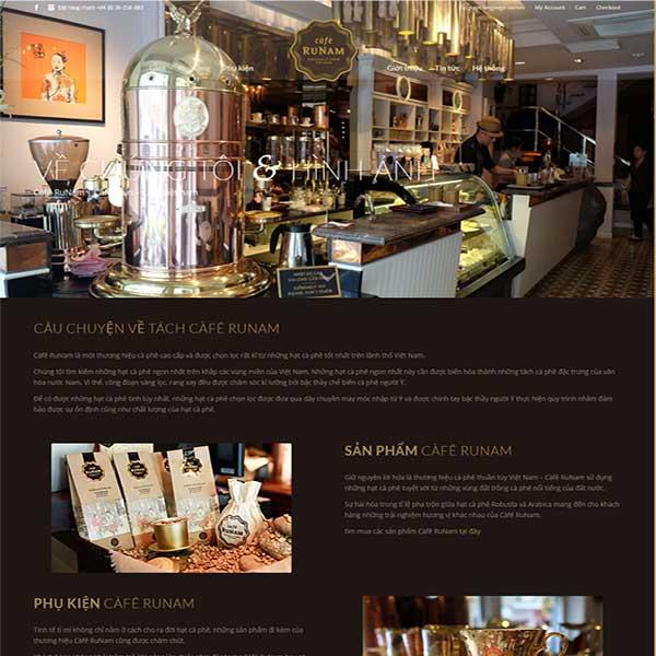 mẫu website bán cafe