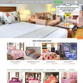 Mẫu Website Chăn Ga Gối đệm SBW150