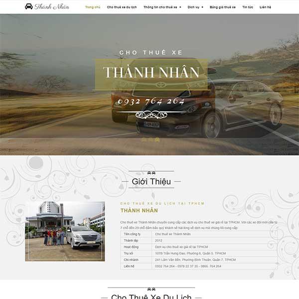 mẫu website dịch vụ cho thuê xe