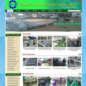 Mẫu Website Cơ Khí Dây Chuyền Sản Xuất SBW146