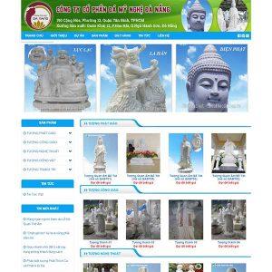 Mẫu Website đá Mỹ Nghệ – điêu Khắc đá SBW149