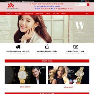 Mẫu Website đồng Hồ Thời Trang Nam – Nữ SBW154