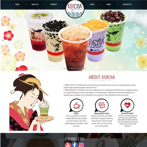 mẫu website bán đồ uống