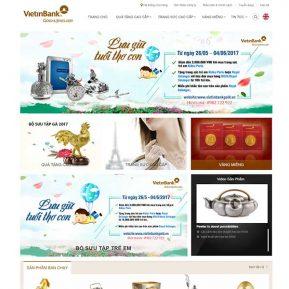 Mẫu Website Vàng Bạc đá Quý Cao Cấp SBW153