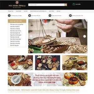 Mẫu Website Nhà Thuốc đông Y Gia Truyền SBW136