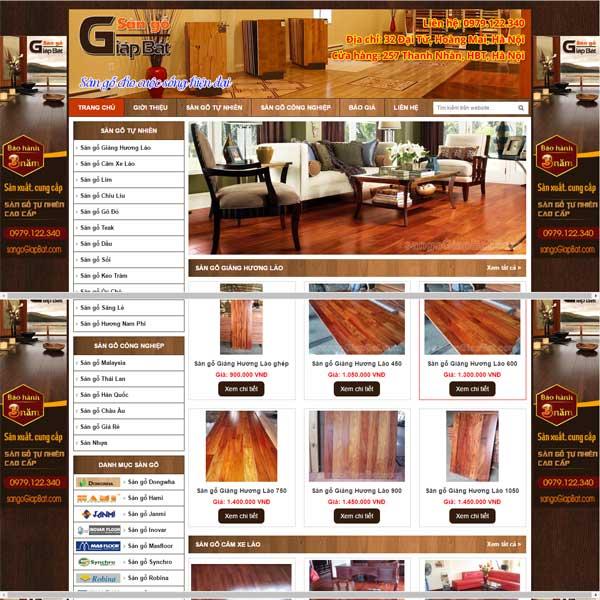 mẫu website bán sàn gỗ